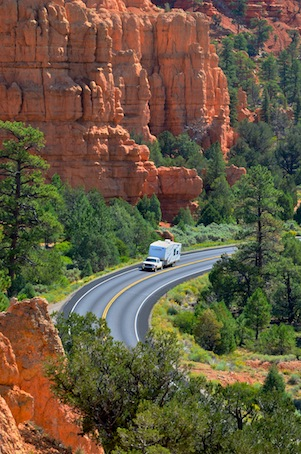 Red Canyon cover shot with RV