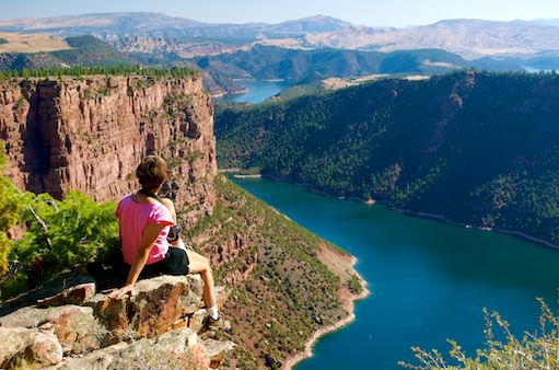 RV lifestyle views from Flaming Gorge Utah