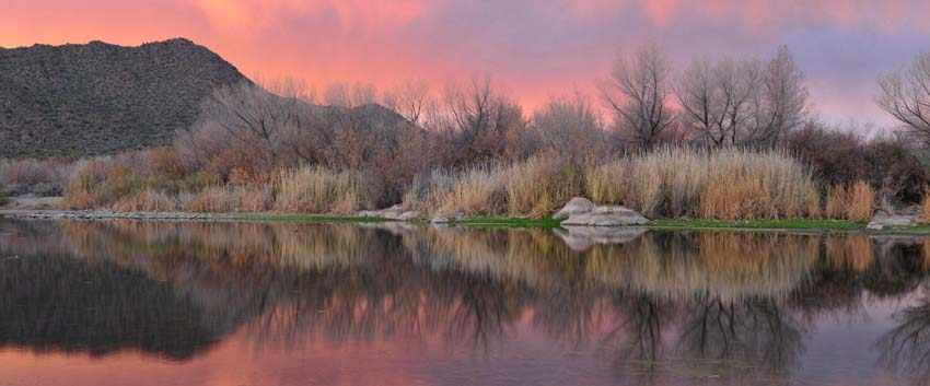 Sunset colors along the Salt River in Phoenix