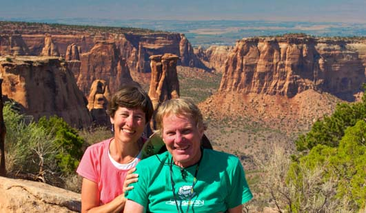 RVers Mark and Emily at Colorado National Monument