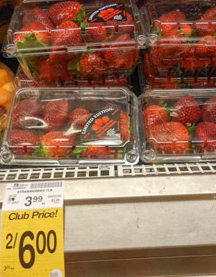 Expensive strawberries at Safeway in Phoenix