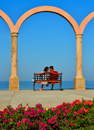 Lovers in Puerto Vallarta Mexico