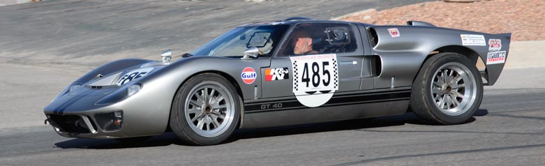 1966 Ford GT40 driving