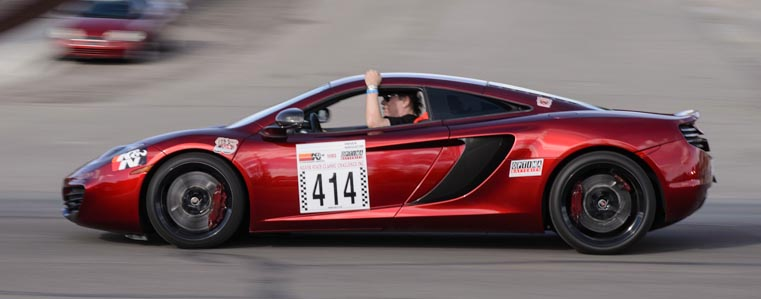 McLaren MP4 Driving the Nevada Open Road Challenge Parade
