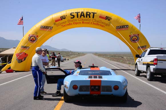 1969 Ford GTO At the start line
