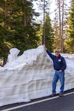 Snow drift at Crater Lake Oregon