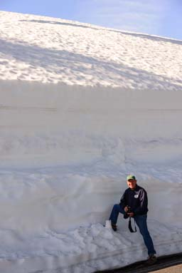 Crater Lake Oregon snowdrift