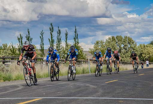 Baker City Cycling Classic Road Race finish line