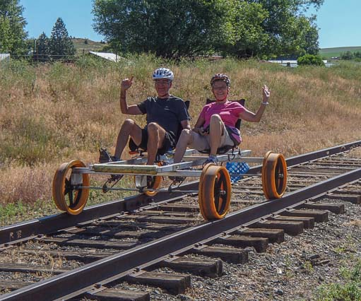 Riding the rails with the Joseph Branch Railriders in Oregon