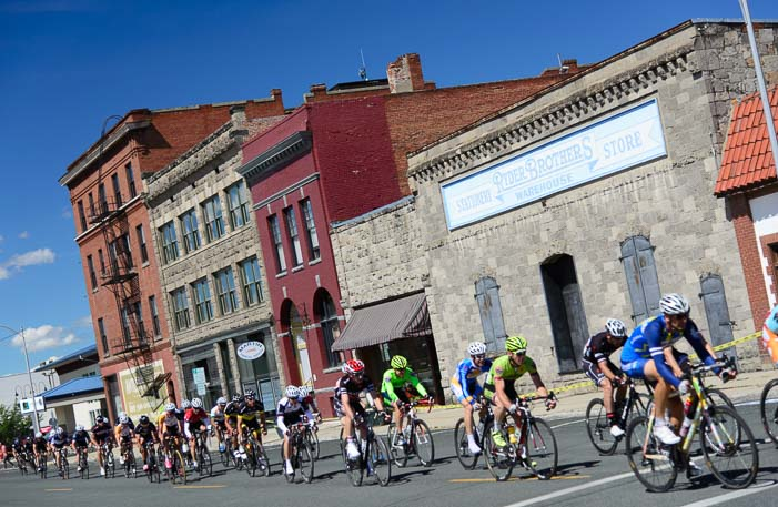 Baker City Cycling Classic race downtown