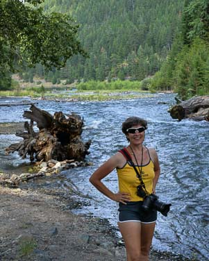 By the river at Wallowa Lake State Park Oregon