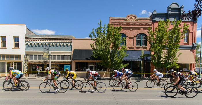 Bike racers in Baker City Oregon