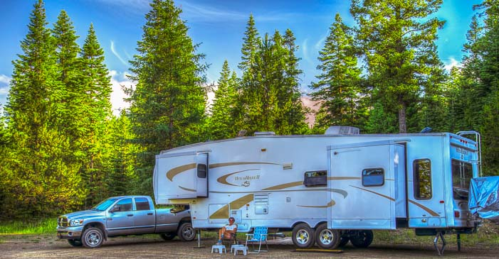 Camping in a Fifth wheel trailer