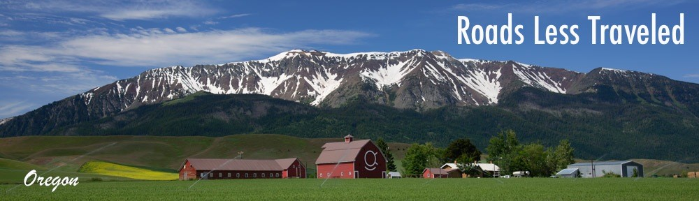 Joseph Oregon barns and mountains