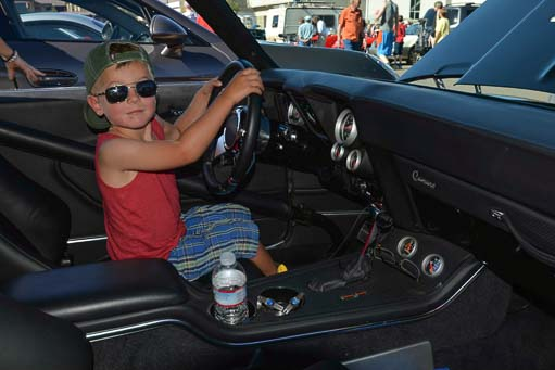 Future car racer at Sun Valley Road Rally in Idaho