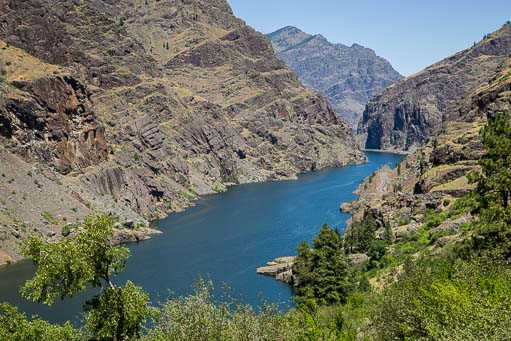 The Snake River at Hell's Canyon Copperfield Idaho