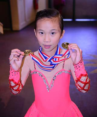 Little girl competes in Sun Valley Figure Skating Championships