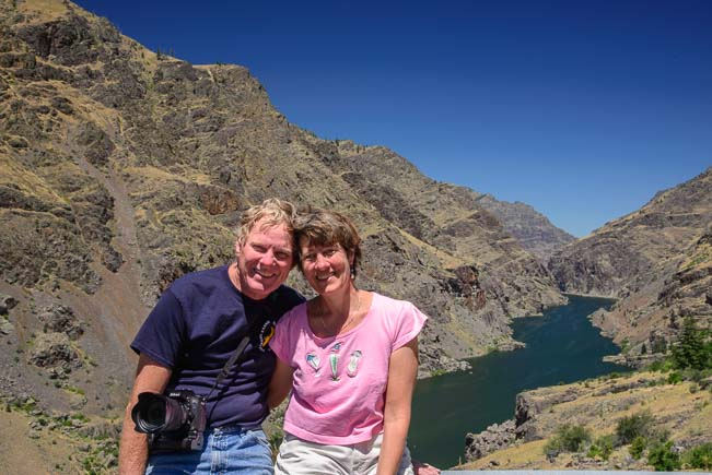 Us at Hell's Canyon National Recreation Area Idaho