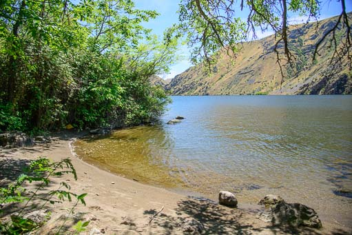Beach on Hell's Canyon Snake River