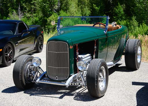 hot rod racing in Sun Valley Road Rally in Idaho
