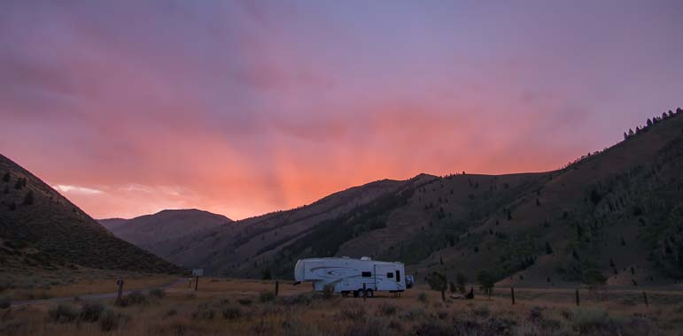 Boondocking in the Sawtooth National Recreation Area Ketchum Idaho