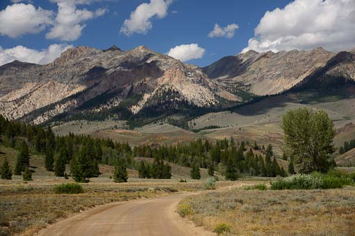 Baker Lake Road into the Sawtooth National Forest