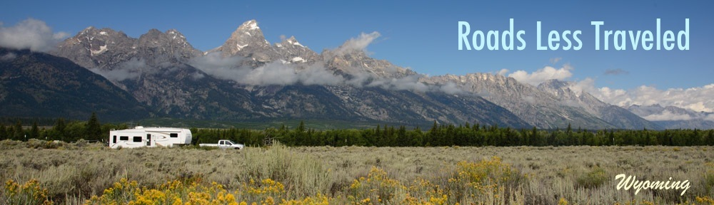 RV travel and camping in Wyoming boondocking near Yellowstone and Tetons