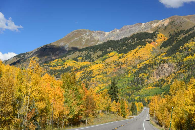 The Million Dollar Highway Route 550 neary Ouray Colorado