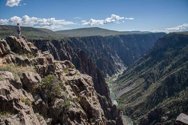 Views at Black Canyon of the Gunnison National Park Colorado