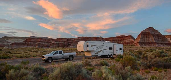 Fifth Wheel Trailer RV near Vermillion Cliffs National Monument Arizona