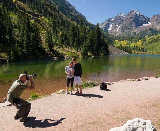 Engagement at Maroon Bells in Colorado