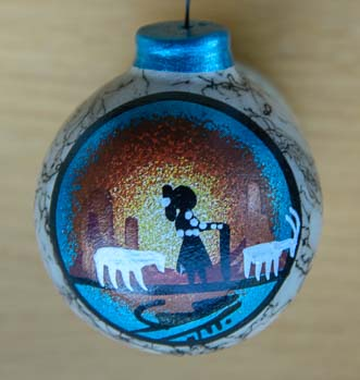 Navajo Indian hand painted Christmas Ornament