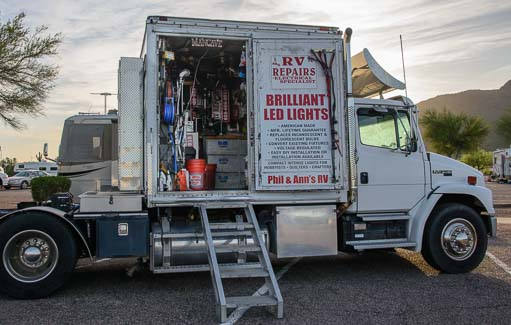 Mobile RV Repair provider's mobile workshop