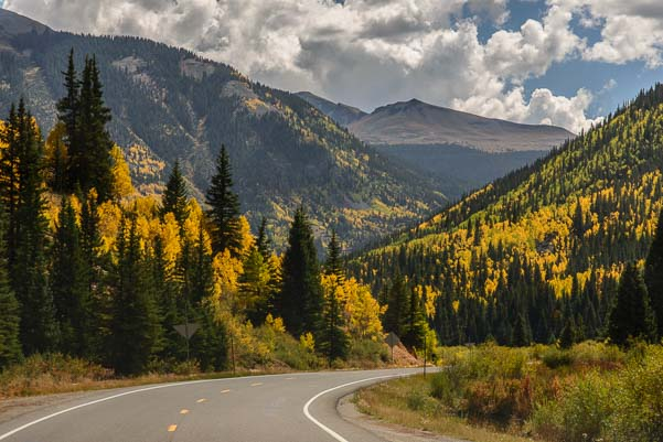 Million Dollar Highway Route 550 near Ouray Colorado