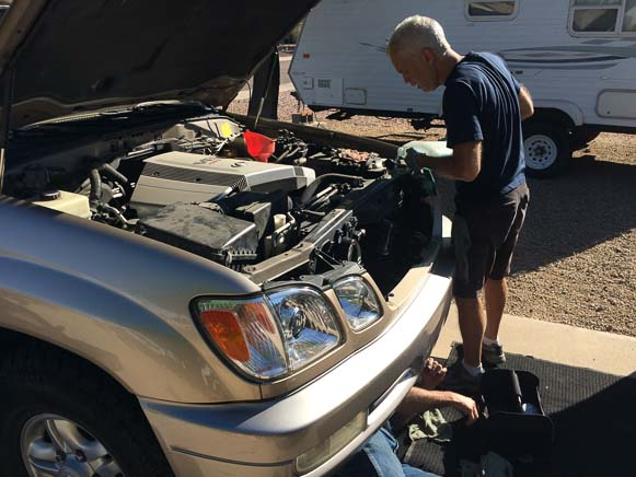 Mobile oil change repair service
