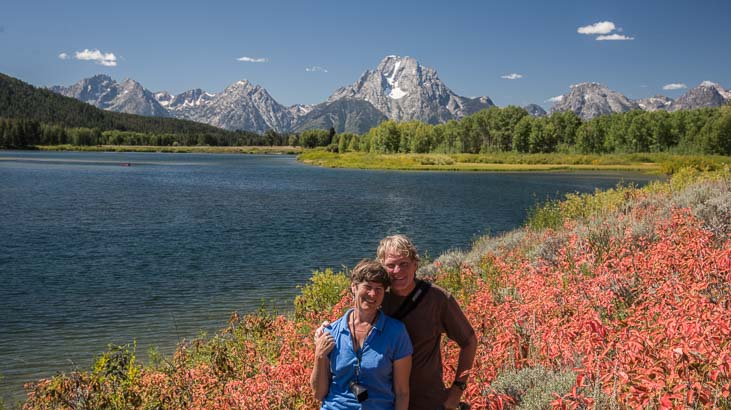 Happy campers at Grand Teton National Park Wyoming