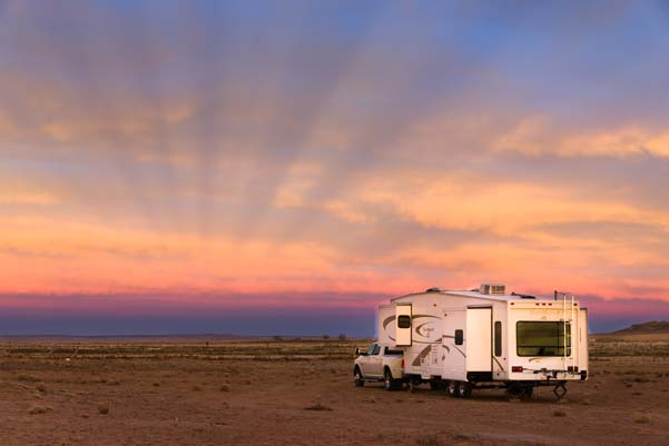 RV boondocking dispersed camping in Arizona