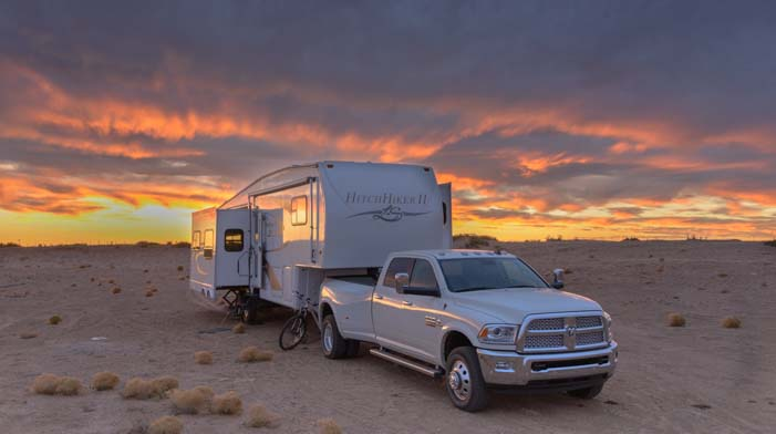 RV boondocking in a 5th wheel trailer