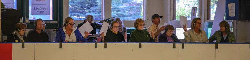 Figure skating judges at a competition