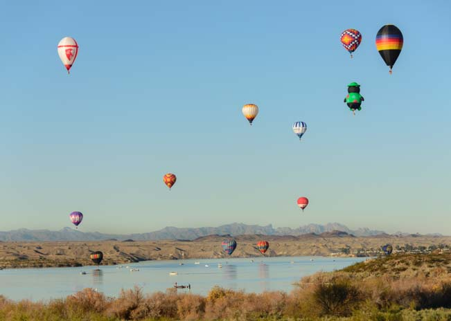 Balloons at Arizona's Havasu Balloon Fest