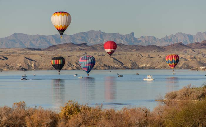 Balloons over Lake Havasu Arizona