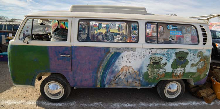 Jerry Garcia VW Microbus with bears and turtle
