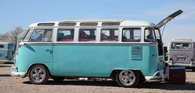 21 window VW microbus in Lake Havasu Arizona