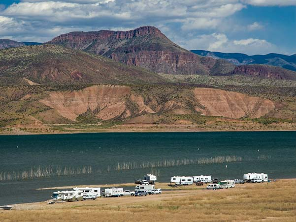 RV boondocking in Arizona