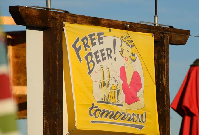 Free Beer Tomorrow in Quartzsite Arizona