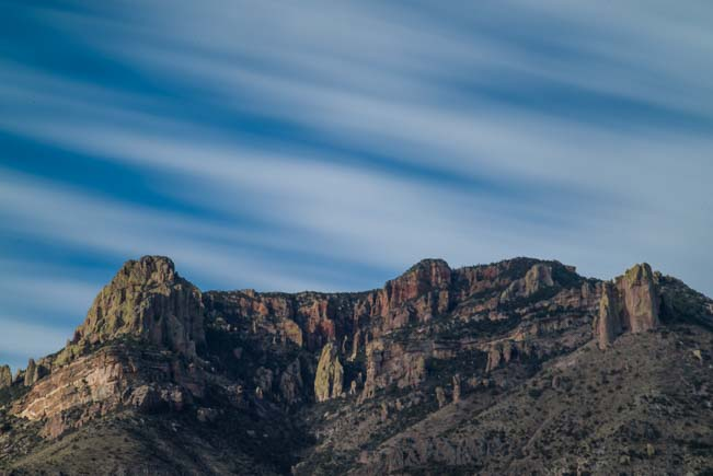 Soft striped skies with cliffs in Arizona