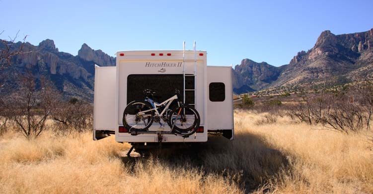 RV camping in the Chiricahua Mountains Arizona