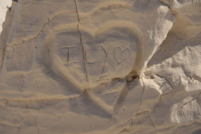 Valentine Love and heart Carved in sandstone
