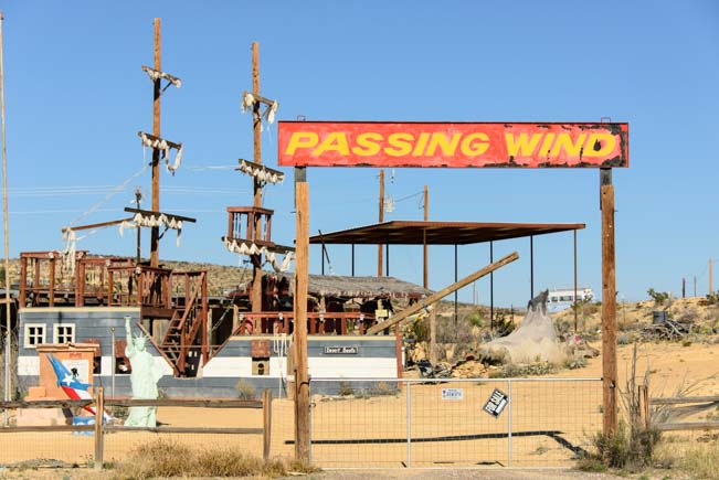 Passing Wind ship in Terlingua Texas in Big Bend
