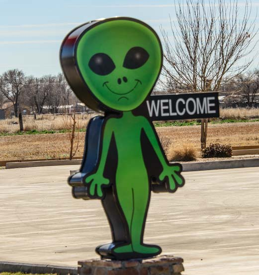 Alien Welcome in Roswell New Mexico